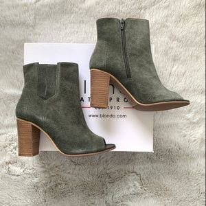 Blondo Olive Green Booties